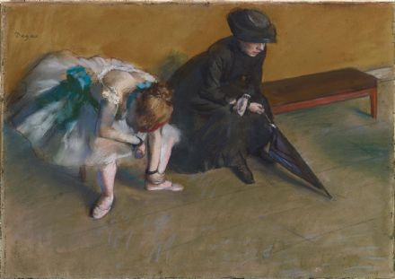 Degas, Edgar: Waiting. Fine Art Print/Poster. Sizes: A4/A3/A2/A1 (003778)